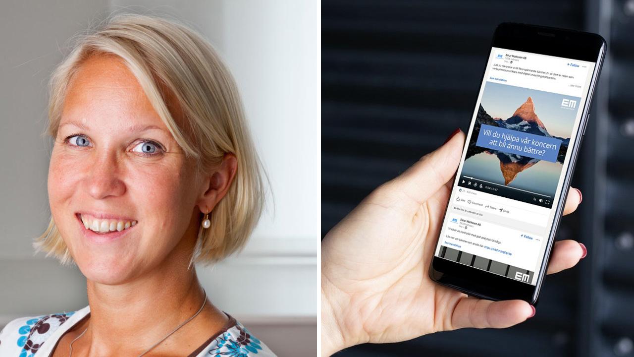 Katarina Lorenz at Einar Mattsson uses video for her HR strategy