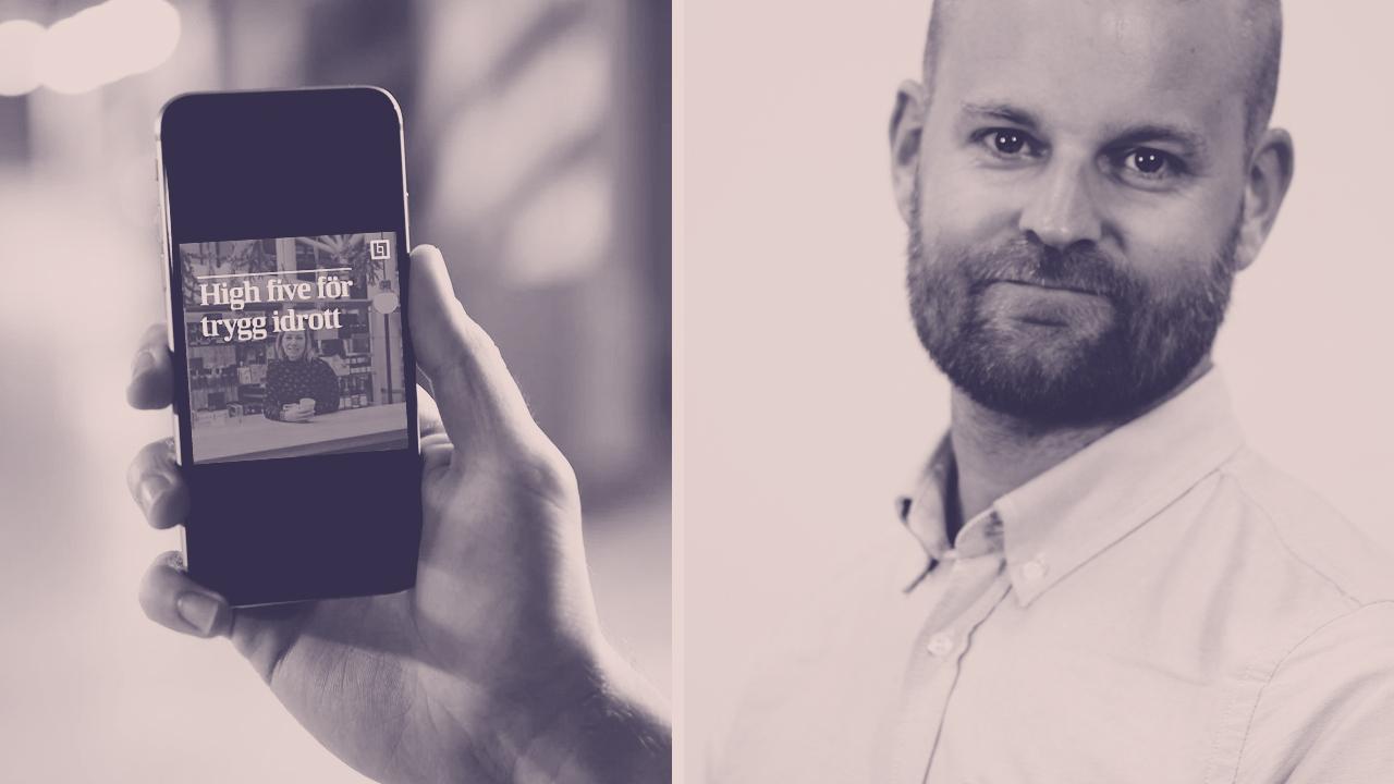 Martin Svensson, Länsförsäkringar Västerbotten, creates a lot of video