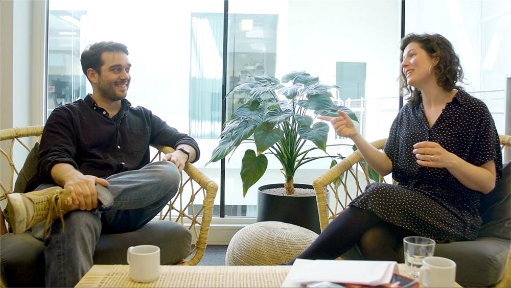 Josef Nezafat och Jonna Ekman i Storykit Talks